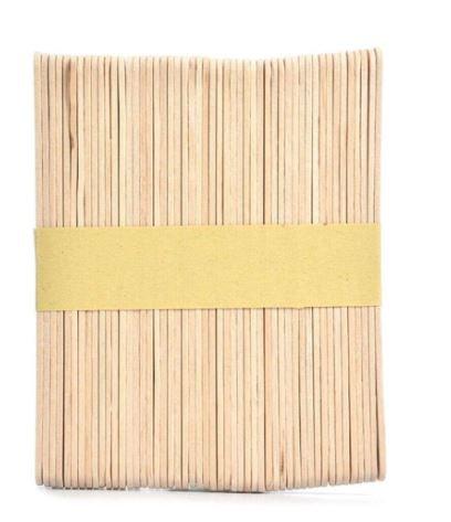 50-Piece Wooden Ice Cream Popsicle Stick Beige 160 millimeter