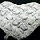 Thumbnail: Grey Two-Tone Faux Fur Heart Shaped Throw Pillow With Insert