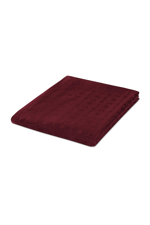 Jacquard Tablecloth, Dark Red by Tchibo