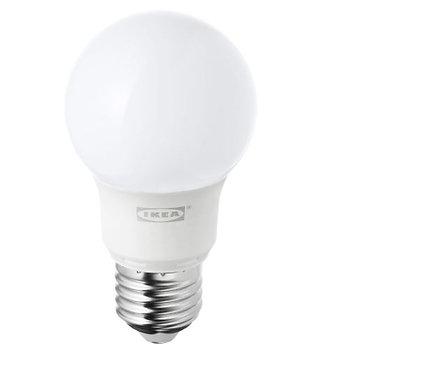 RYET LED bulb E27 400 lumen, globe opal white by IKEA