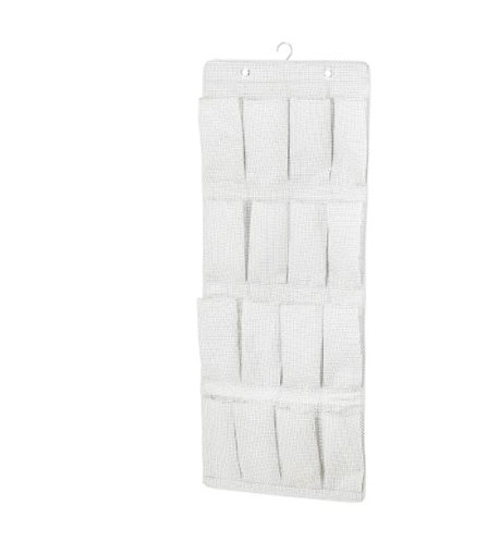 STUK Hanging shoe organiser with 16 pockets, white/grey 51x140 cm by IKEA