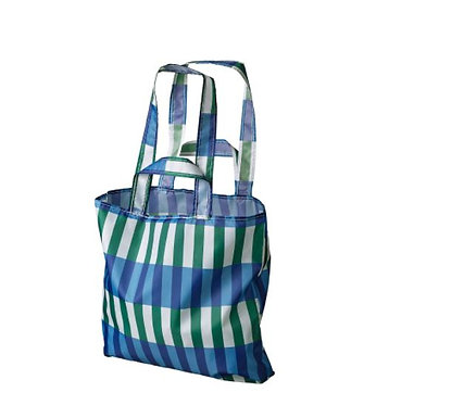 SKYNKE Carrier bag, blue/green by IKEA