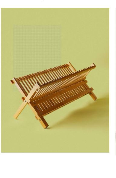 Bamboo Foldable Dish Rack by Noon East
