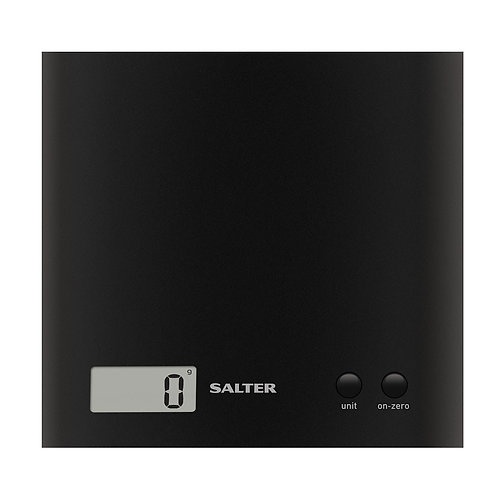Arc Electronic Digital Kitchen Scales, Black by Salter