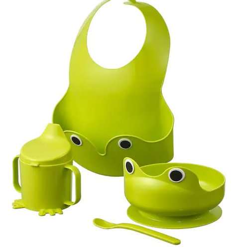 MATA 4-piece eating set, green -IKEA