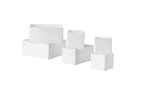 SKUBB Box, Set of 6, white by IKEA