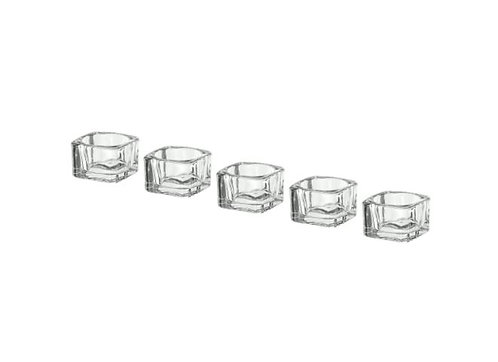 GLASIG Tealight Holder, clear glass 5x5 cm by IKEA