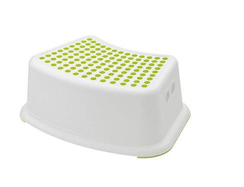 FÖRSIKTIG Children's stool, white/green by Ikea