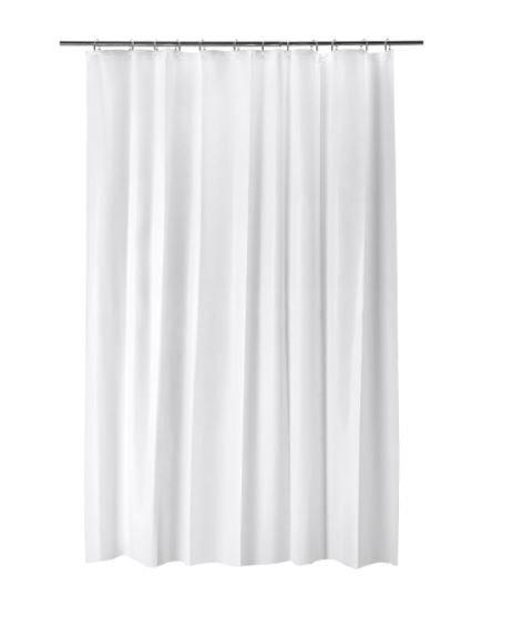 BJÄRSEN Shower Curtain, White 180x200 cmby IKEA