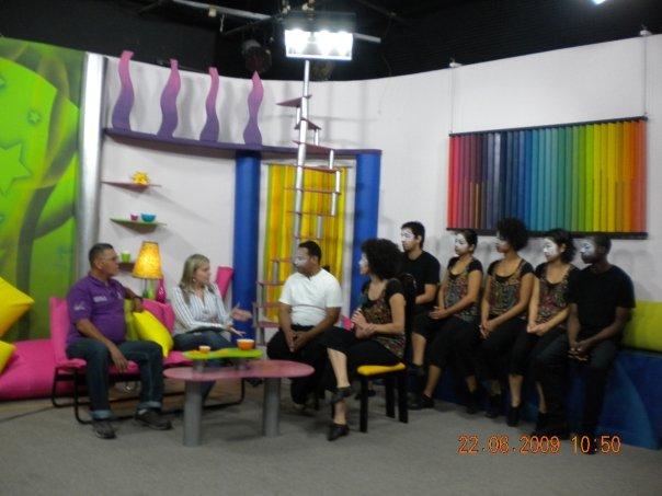 On the TV Set of a Venezuelan show