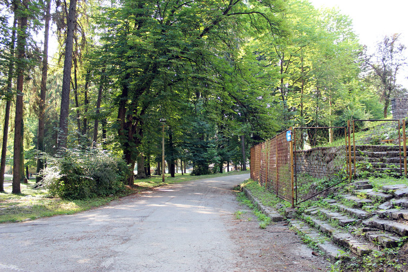 Road in front of the property