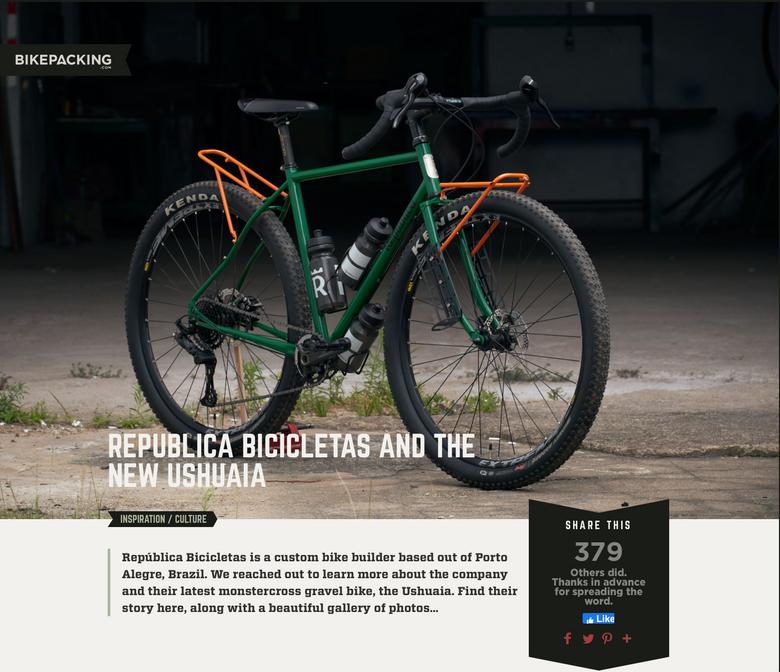 Matéria sobre a República e o modelo Ushuaia no bikepacking.com