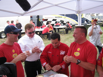 Crawfish Boil - with Gil Martin - Kevin Harvick and Richard Childress .jpg