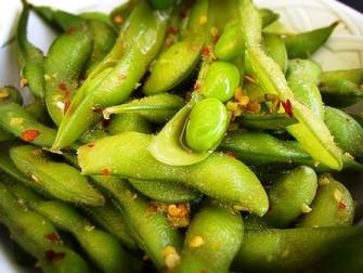 Food styling edamame  macro food photography