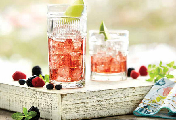 food and beverage styling a summe spritzer