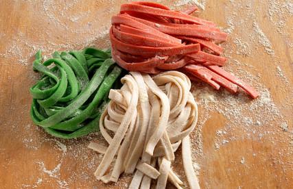 food styling fresh pasta
