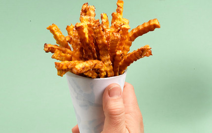 food styling french fries
