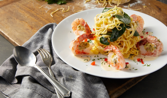 Shrimp and Pasta | seafood stylist