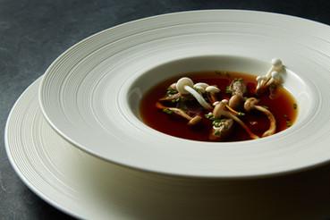 food styling mushroom soup