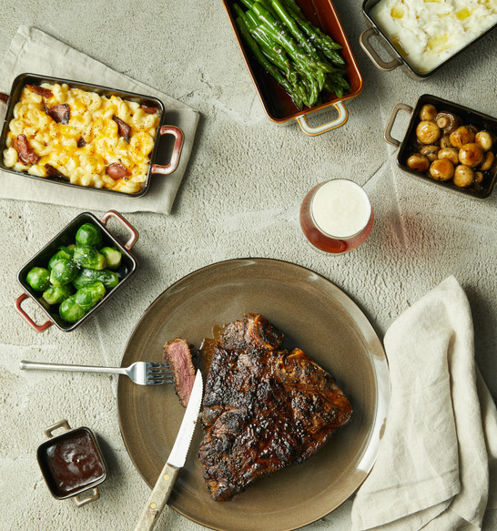 Food Stylist: Steak Dinner | bbq food photography