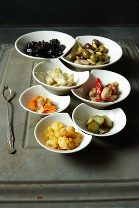 food styling mixed pickles