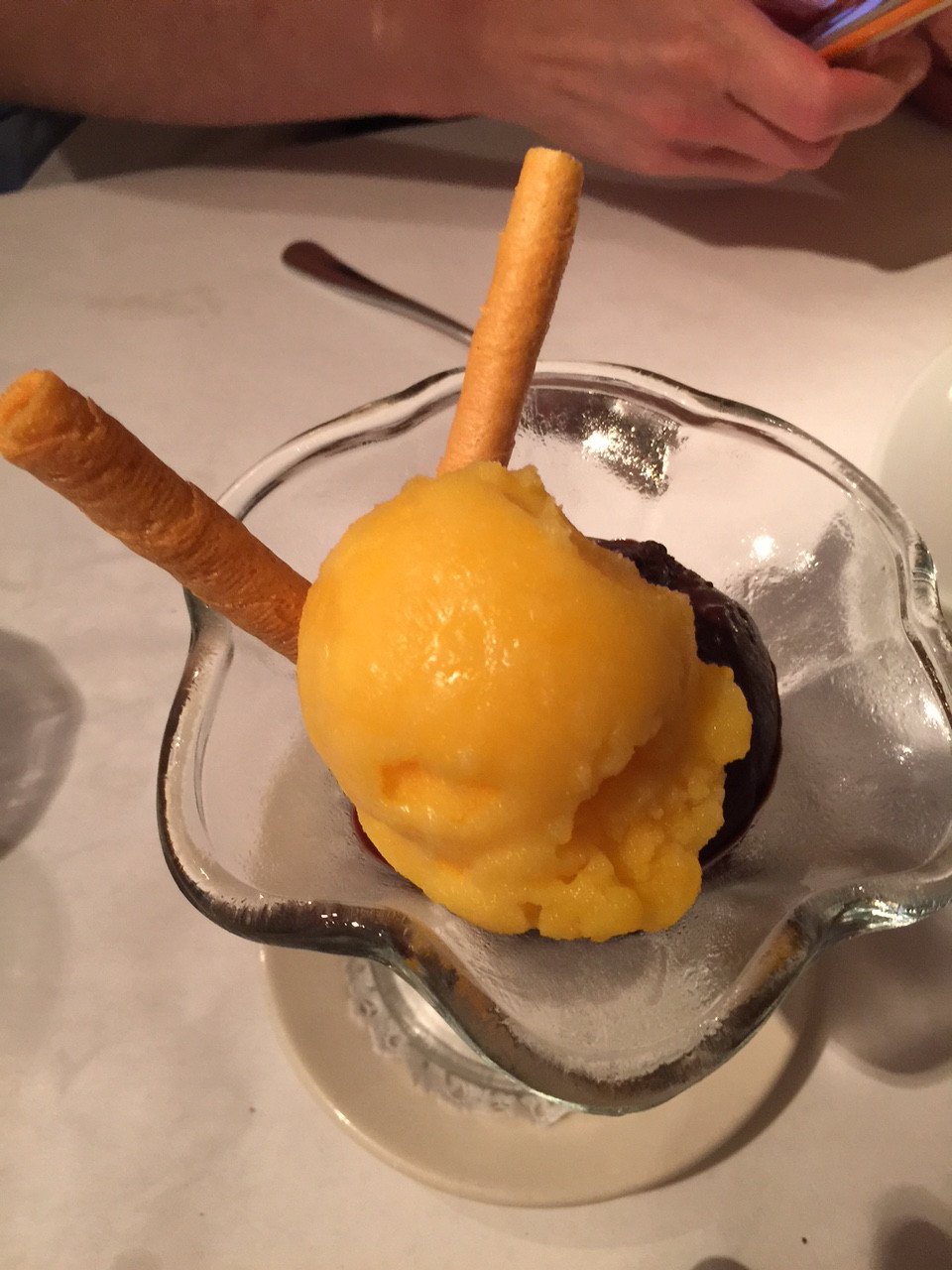 Tangerine and Chocolate Sorbets