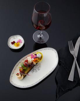 food styling for an elegant restaurant