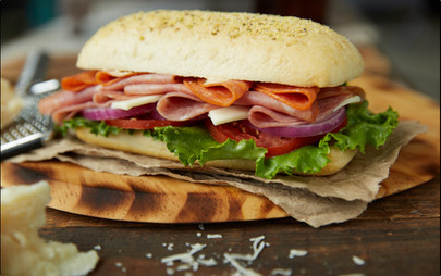 food styling a hero sandwich   close up food photography