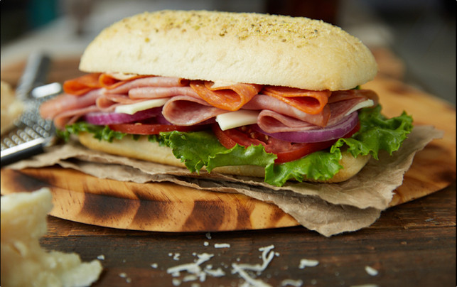 food styling a hero sandwich | close up food photography