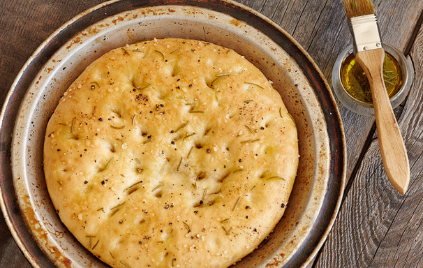 Food styling flat bread