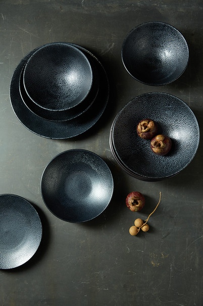 food and prop styling bowls and exotic fruits