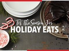 food styling cake and candy canes