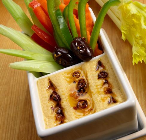 food styling hummus