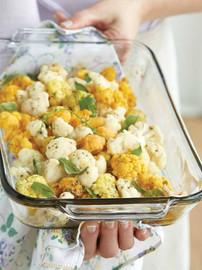 food styling cauliflower