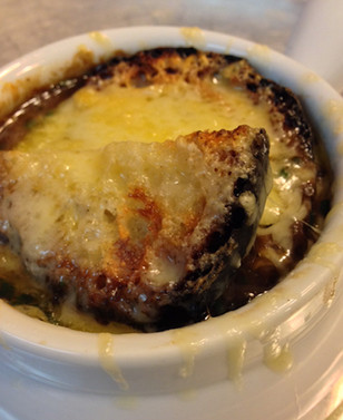 food styling French Onion Soup