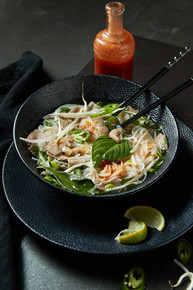 Professional food styling for pho