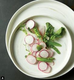 food styling fresh radishes