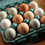 food styling a carton of eggs