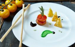 A trendy food stylist