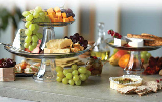 food styling a cheese display