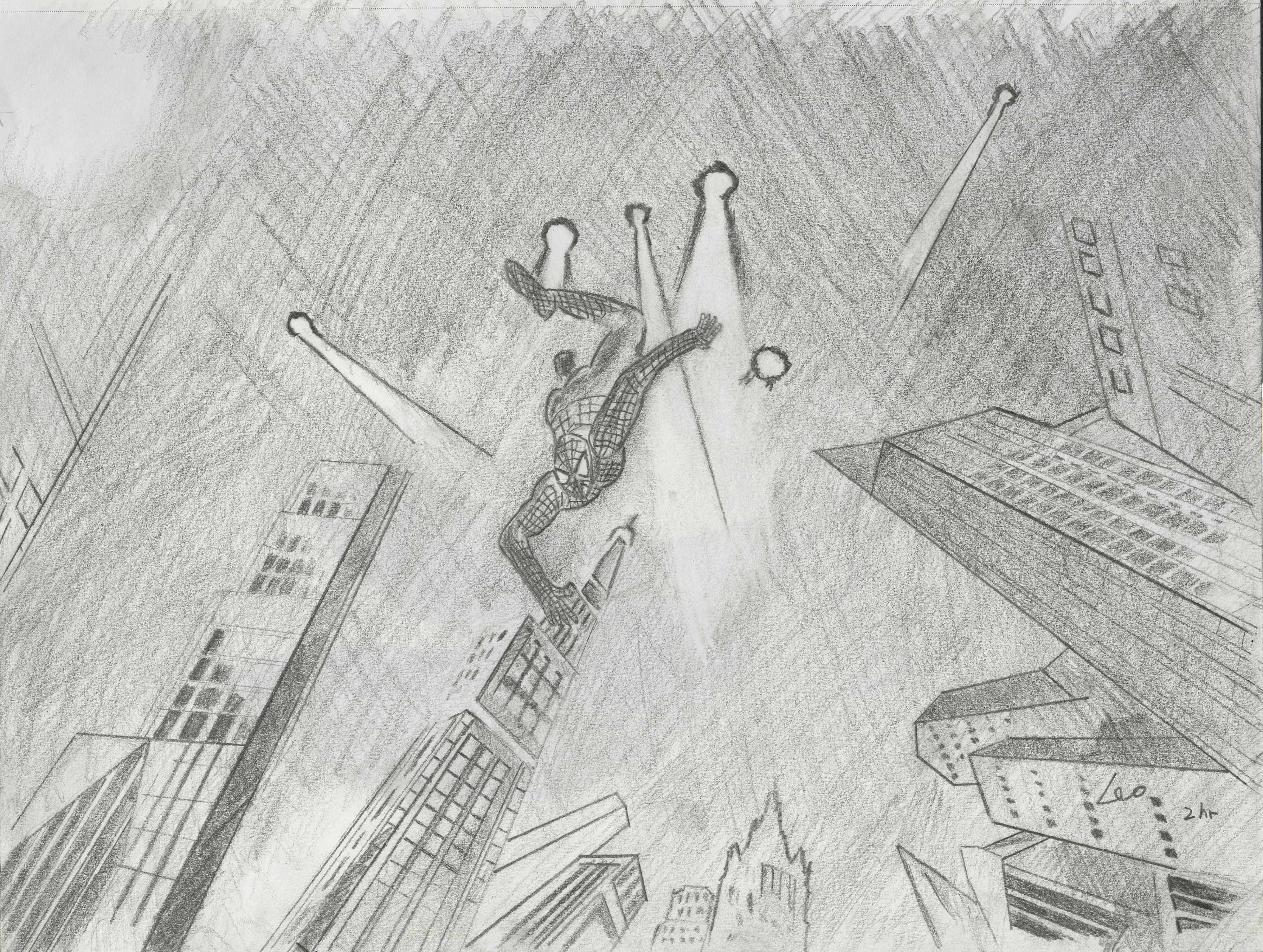 Sketch-Spider Man