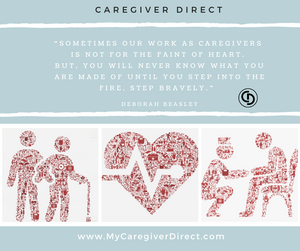 Caregiver step bravely we support you