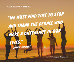 Give Thanks for a Caregiver