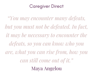 Caregiver graphic about perseverance.