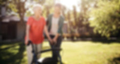 Caregiver Supporting A Senior In Need