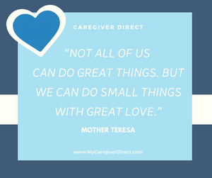 Mother Teresa Quote doing small things with great love