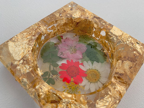 Dried Flower Resin Tray