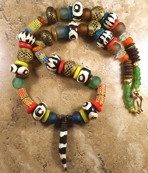 Chunky African Statement Necklace