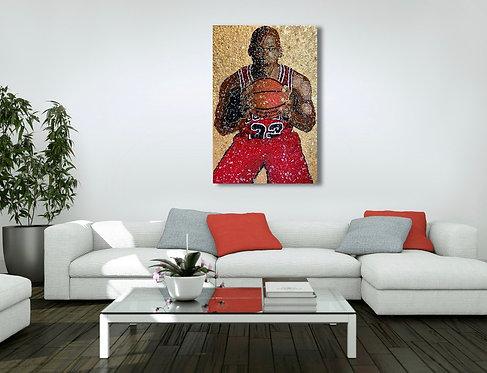 Michael Jordan Mixed Media Painting