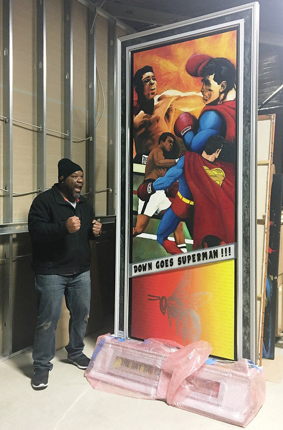 Ali vs. Superman delivery day!!